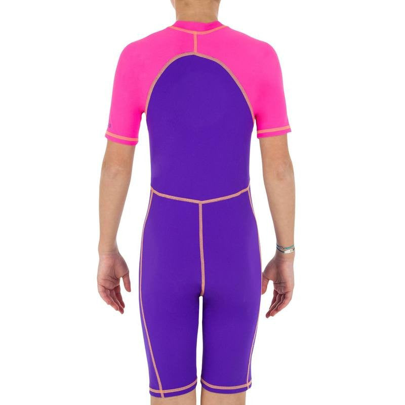 Purple/Pink Shorty Swimsuit (6 & 14yrs Only)