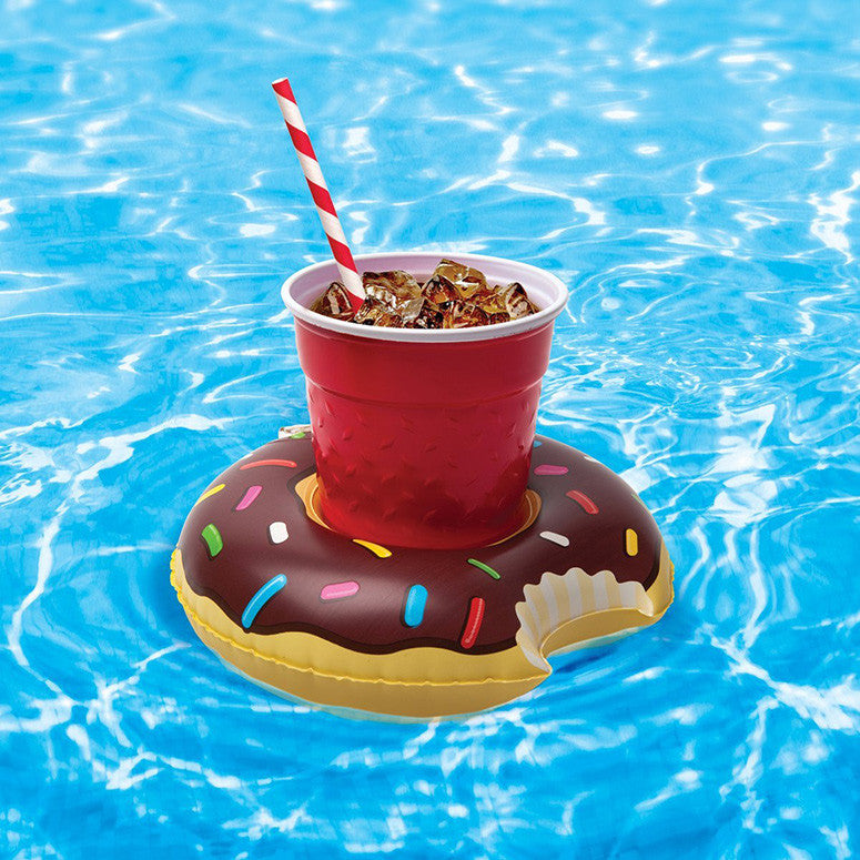Inflatable Mini Donut Drink Holder (Pack of 3)