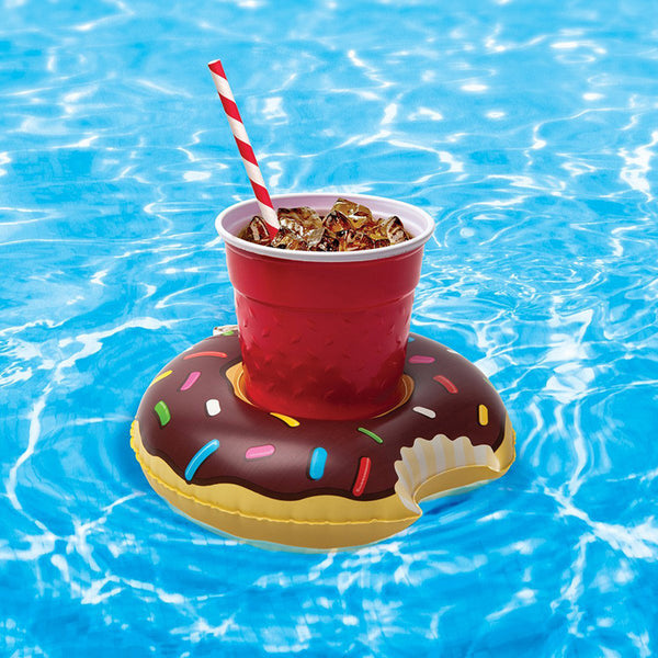 Inflatable Mini Donut Drink Holder (Pack of 2)