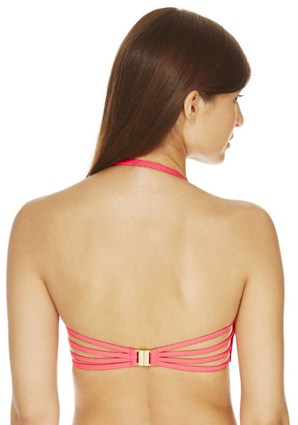Shocking Pink Ruched Underwired Set (Only UK 12)