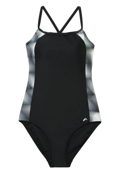 Active Digital Print Side Panel Swimsuit