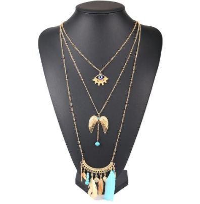 Bohemia Feather Necklace