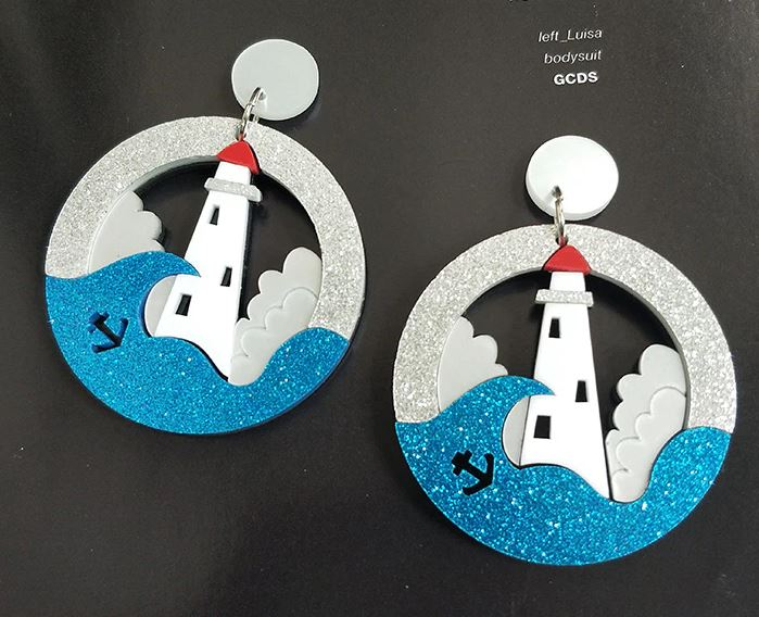 Quirky Lighthouse Earrings