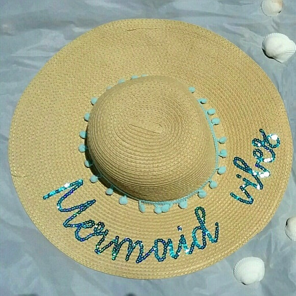 """Mermaid Vibes"" Embellished Kids Hat"