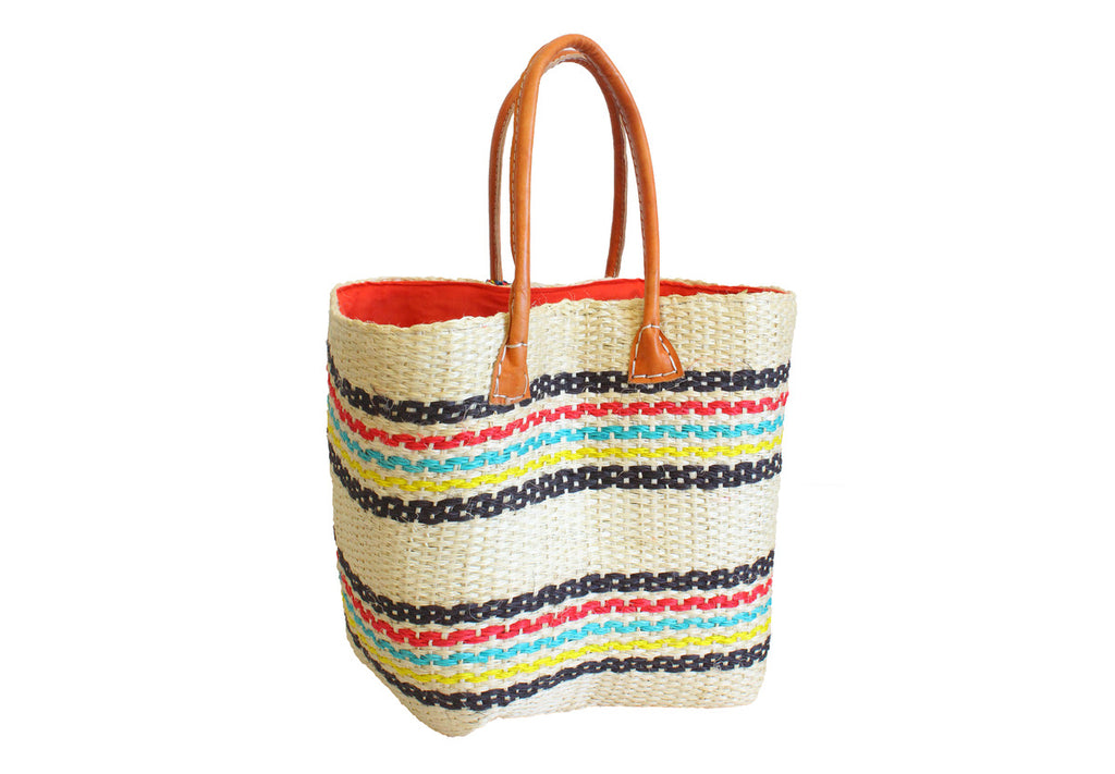Multicolour Stripes Tote