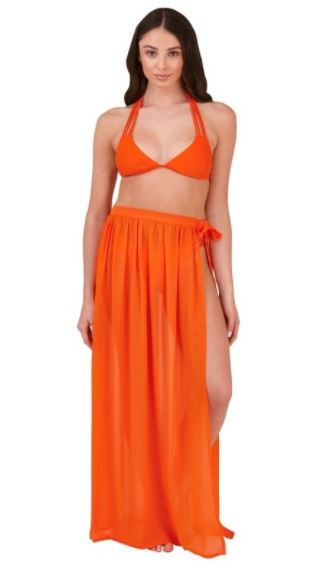 Orange Wrap Skirt/Sarong
