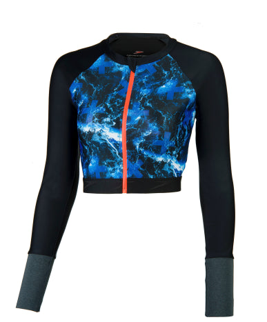 Speedo Female Stormza H2O Active Sport Rash Top ( M Only)
