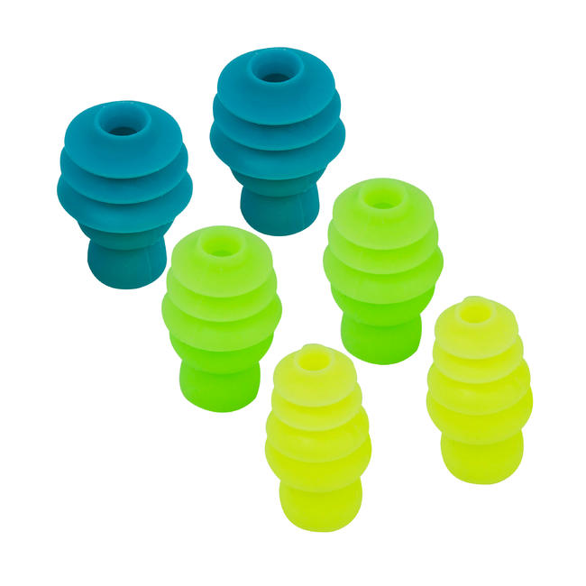 Fir Tree Shaped Silicone Swimming Ear Plugs - 3 Sizes