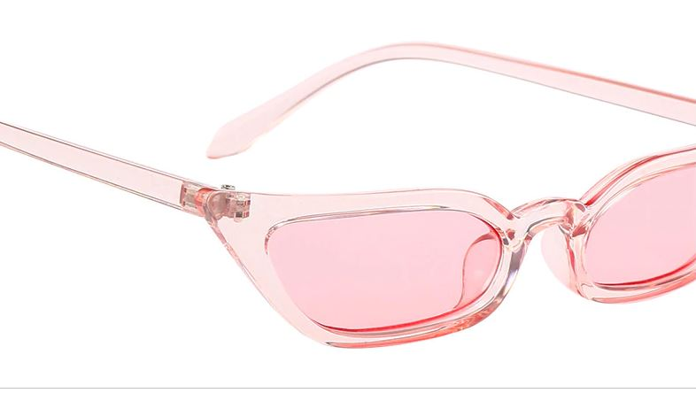 Pink Slim Pointed Cat Eye Sunglasses