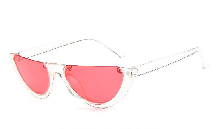 Pink Tint Half Moon Sunglasses