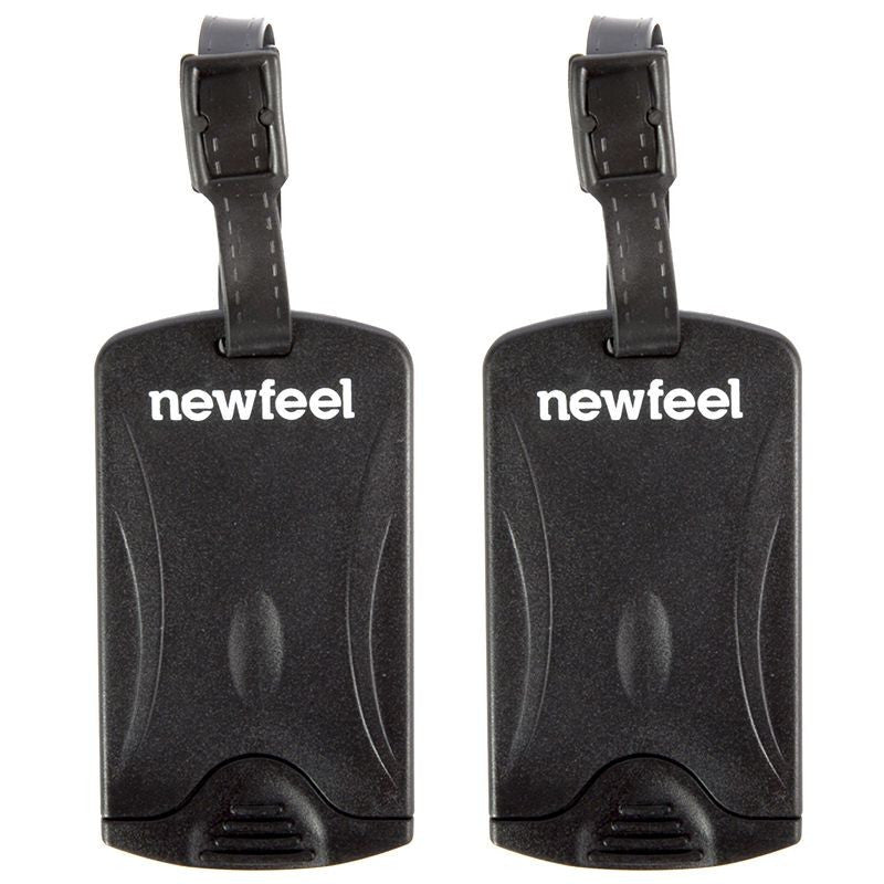 Pack of 2 Luggage Tags - Black