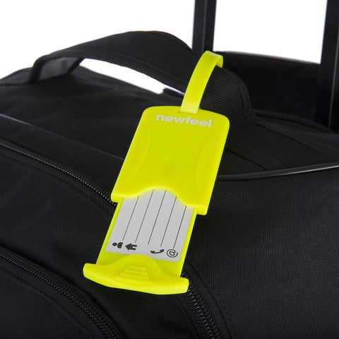 Pack of 2 Luggage Tags - Bright Yellow