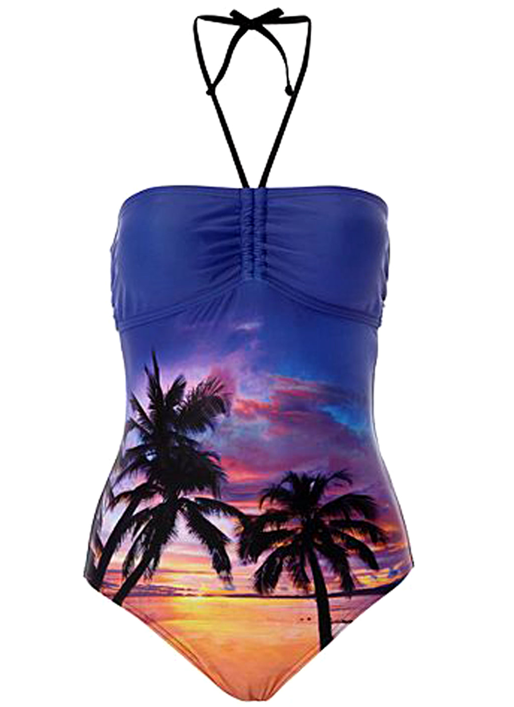 Palm Tree Print Swimsuit (Size 14 Only)