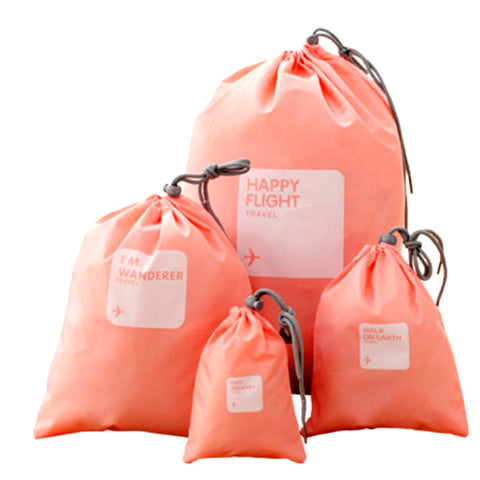 Waterproof Travel Bags Set Of 4 (Peach)