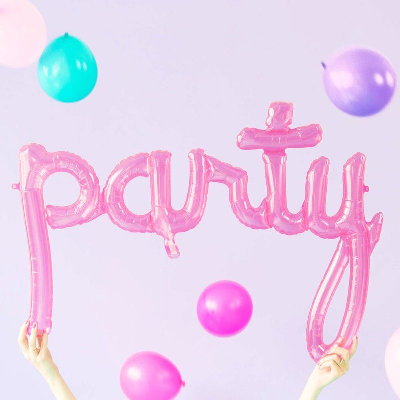 Giant Pink 'Party' Foil Balloon