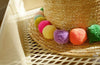 Colorful Pom Pom Hawaiian Beach Hat