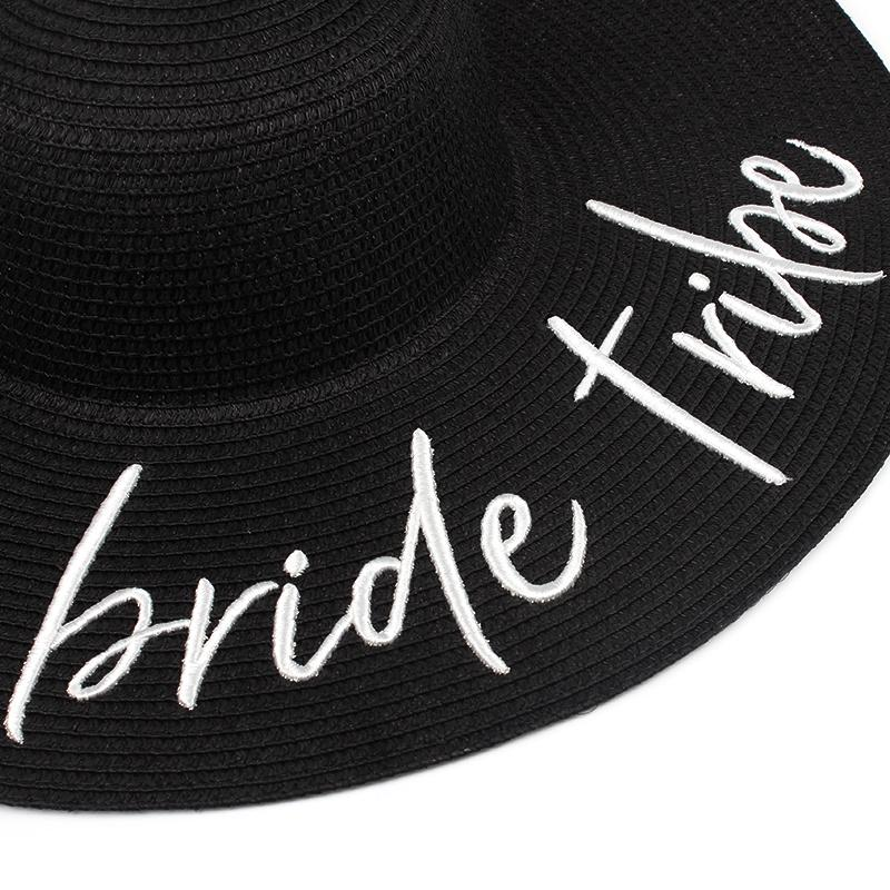 'Bride Tribe' Embroidered Floppy Hat