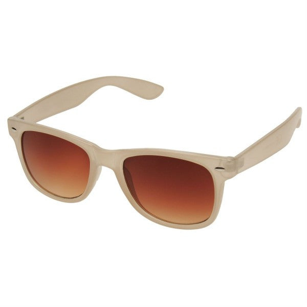 Beige Wayfarer Mens Sunglasses