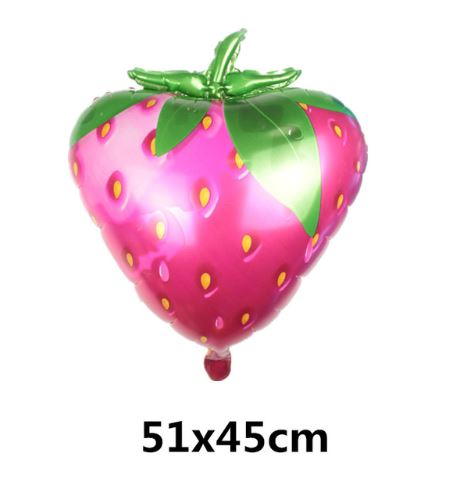 Giant Sunny Fruit Foil Balloons (Pack Of 8)