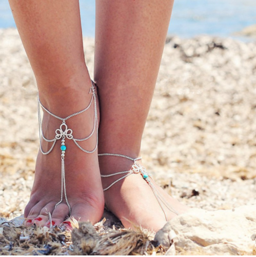 Bohemia Toe Ring Anklet (Set of 2)