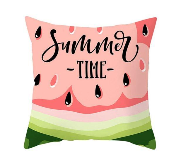 Summer Time Watermelon Theme Cushion Covers - Set of 2