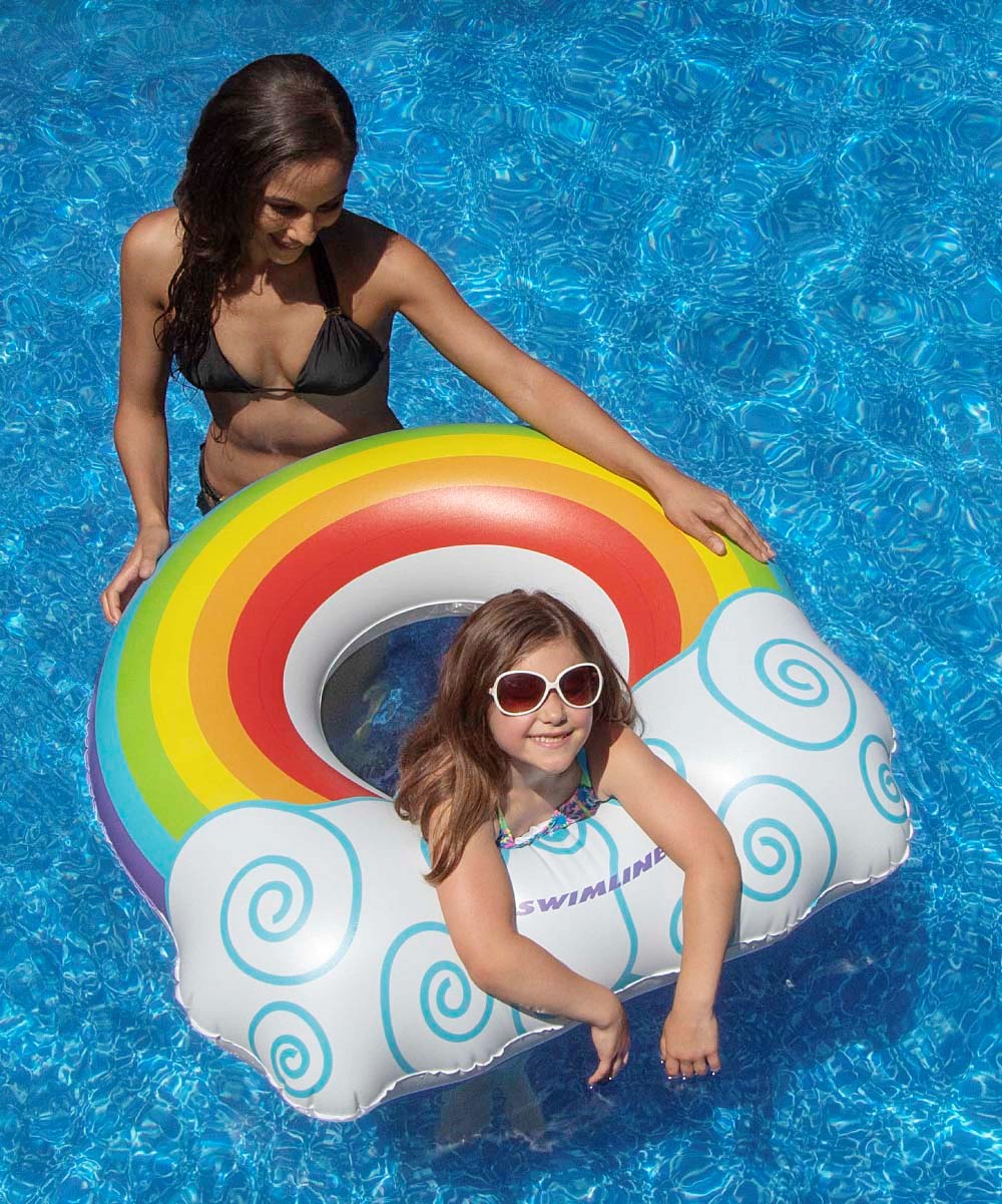 Swimline Kids Rainbow Pool Ring