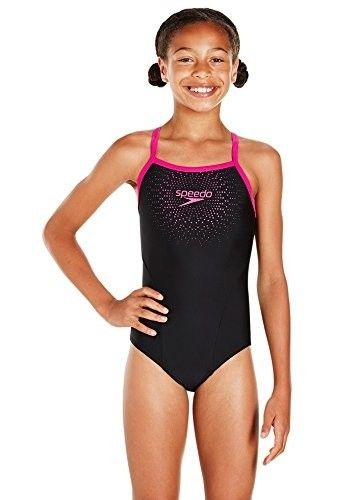 Speedo Gala Logo Thinstrap Muscleback Swimsuit