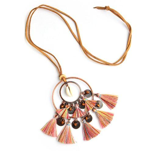 Boho Shell Tassel Necklace