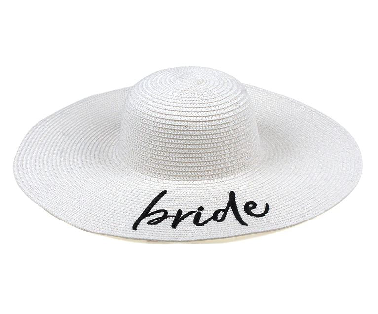 4b402719 Bride' Embroidered Floppy Hat I Beach Hats | The Beach Company