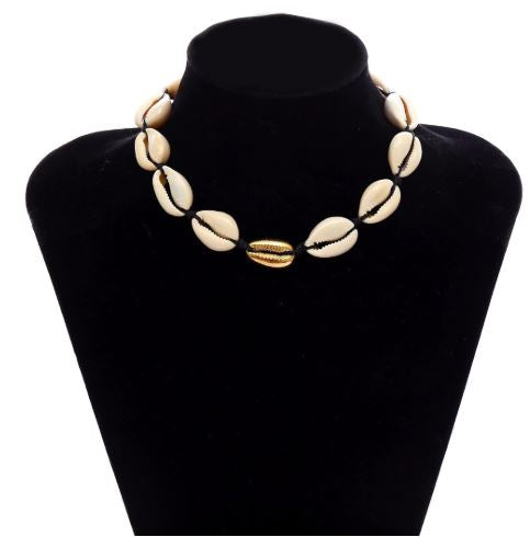Gold Sea Shell Choker Set