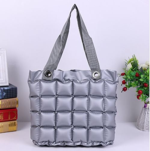 Inflatable Bubble Bag - Silver