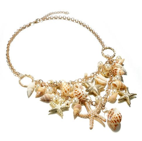 Stars And Shell Choker Necklace
