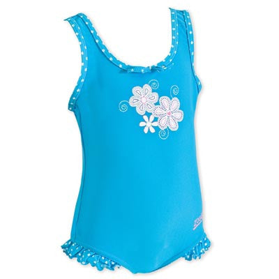 Zoggs Sunsine Beach scoopback Blue - Zoggs Swimsuits for Girls