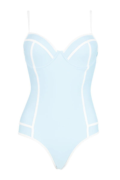 Contrast Binding Underwired Swimsuit