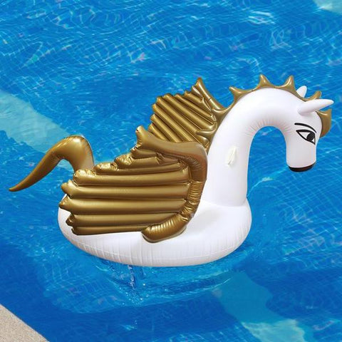 Inflatable Gold Pegasus Float