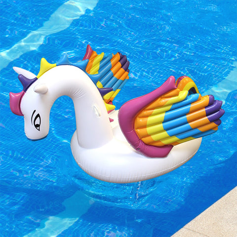 Inflatable Rainbow Pegasus Float
