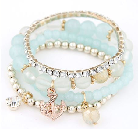 Bohemia Beaded Anchor Bracelet