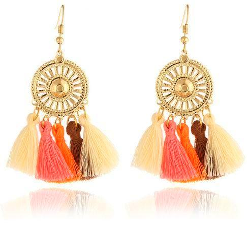 Ethnic Dangling Tassel Earrings