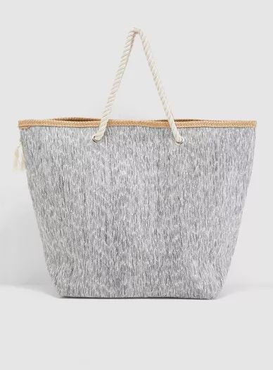 "Marled ""Weekend"" Slogan Tote Bag"