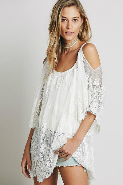 Cold Shoulder Cover Up I Beachwear Kaftans The Beach Company India