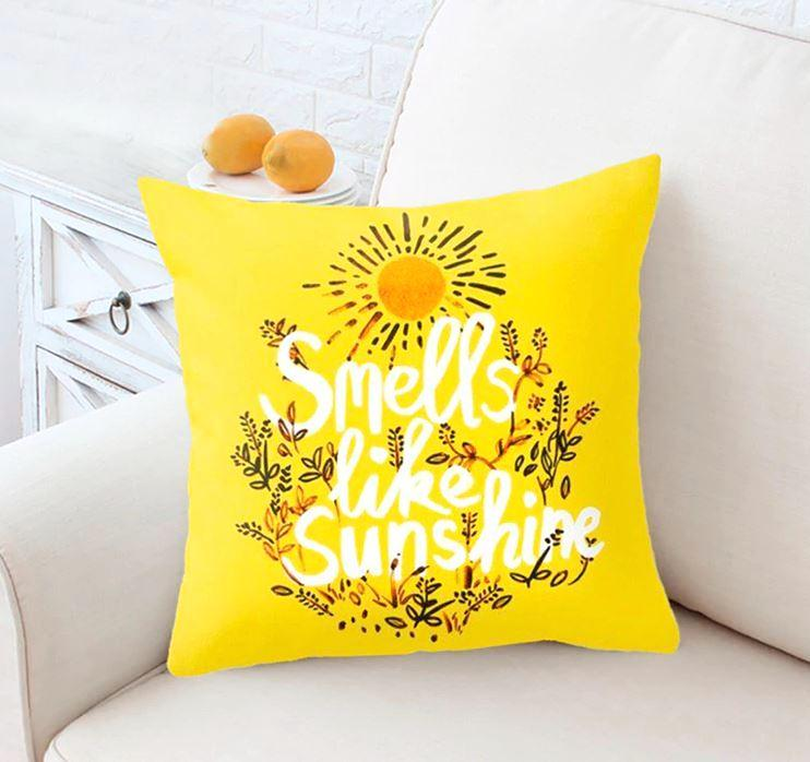 Yellow Sunshine Cushion Cover