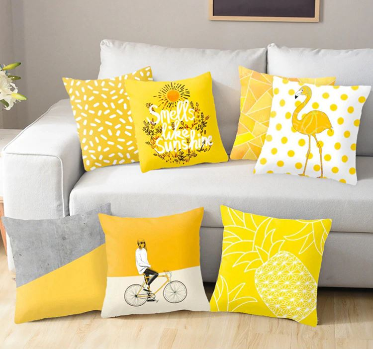 Yellow Pineapple Cushion Cover
