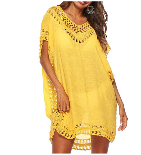 Knitted Crochet Detail Kaftan