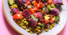 Purple Potato and Crunchy Lentil Salad