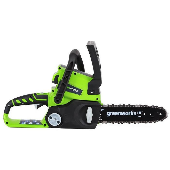 GreenWorks 2000102 24-Volt 10-Inch Tool-Less Cordless Chainsaw - Bare Tool