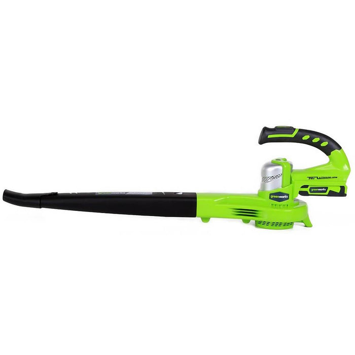 GreenWorks 24352 24V 130-Mph Adjustable Dual-Speed Cordless Leaf Blower Kit