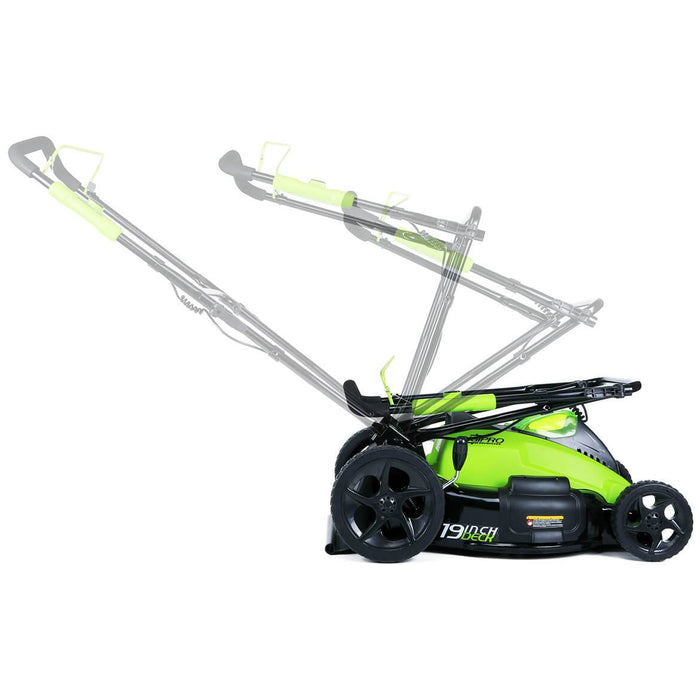 GreenWorks 2500502 40-Volt GMAX 19-Inch Digipro Cordless Lawn Mower Kit