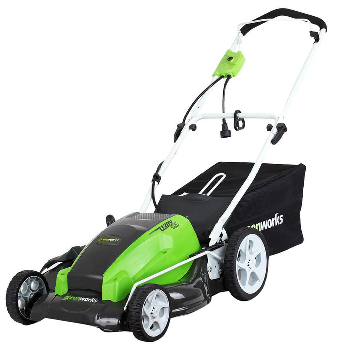 GreenWorks 2507702 21-Inch 13-Amp 3-in-1 Electric Brushed Push Lawn Mower
