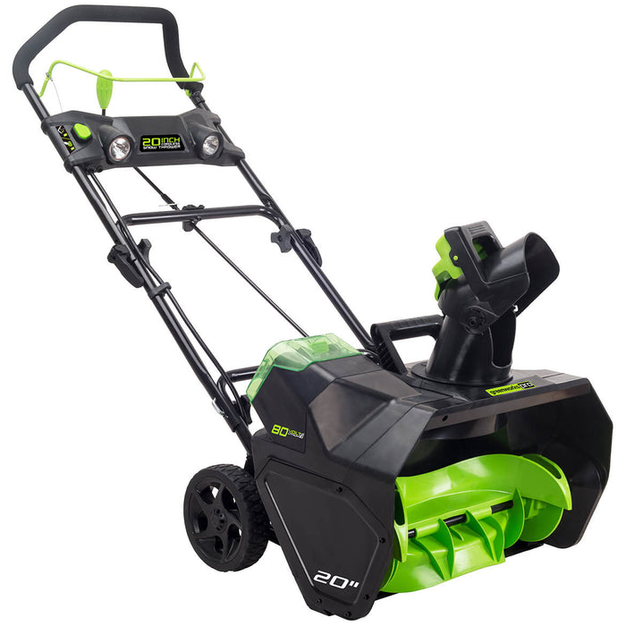Greenworks 2601302 80 Volt 20 Inch Cordless Snow Thrower Bare Tool