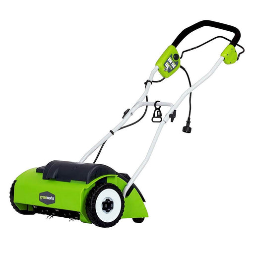 GreenWorks 27022 14-Inch 10-Amp 3-Position Heavy Duty Corded Push Dethatcher